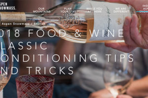 2018 Food & Wine Classic Conditioning Tips and Tricks