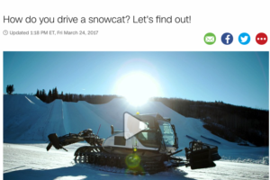 How do you drive a snowcat?