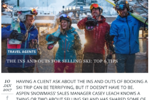 Travel Weekly.au – The Ins and Outs for Selling Ski
