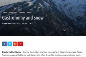 Gastronomy and Snow – Diario Judio 2017