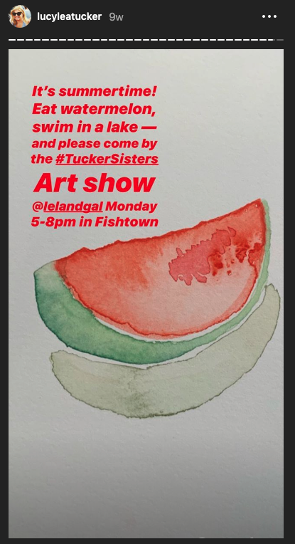 Come on by for the Tucker Sisters Art Show!