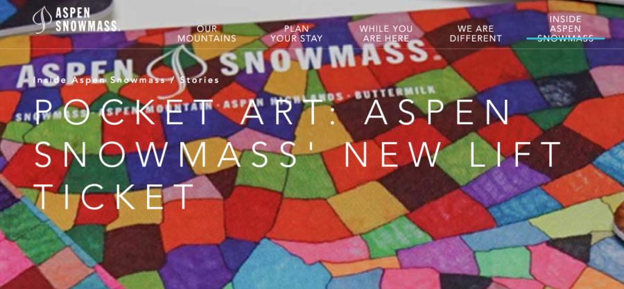 Pocket Art: Aspen Snowmass' New Lift Ticket